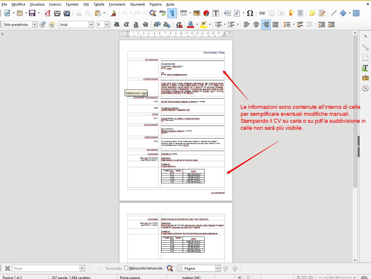 Stampare Su File Il Proprio Curriculum Vitae Concrei